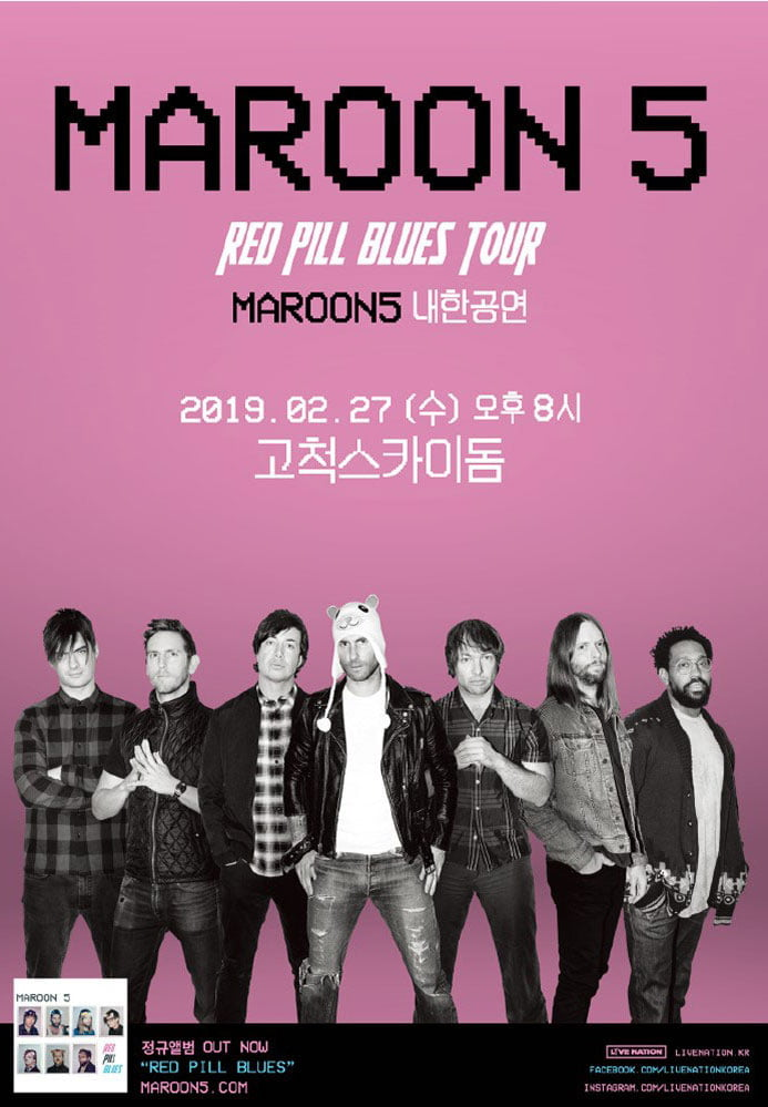 Maroon 5 Red Pill Blues Tour Live in Seoul