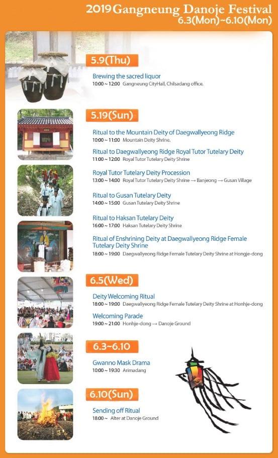 gangneung danoje festival schedule 2019