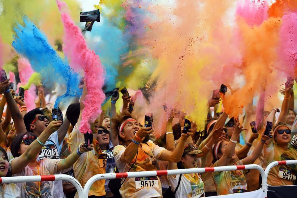 the color run seoul korea festival running