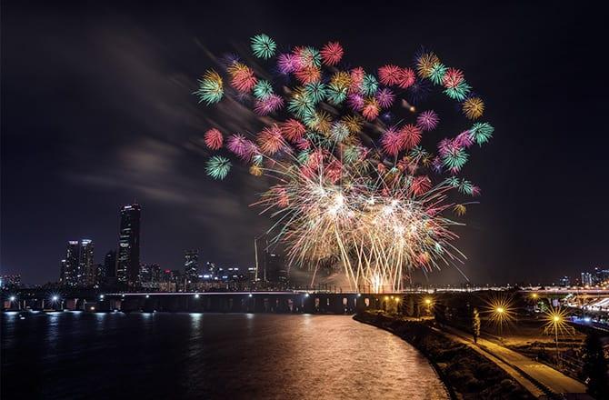 han river fireworks firework show hanwha international