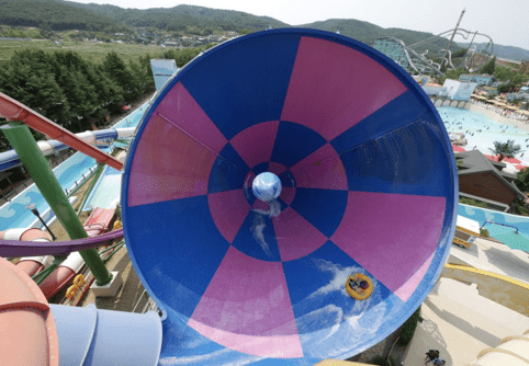 california beach water park korea