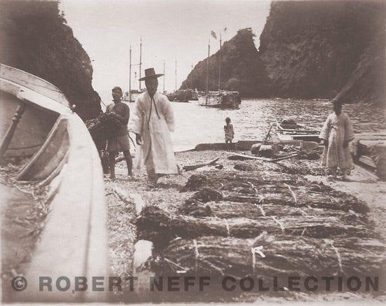 A harbor on Ulleung Island, circa 1906