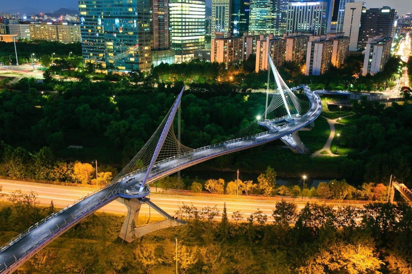 Contemporary Architecture Spaces In Korea Saetgang Bridge
