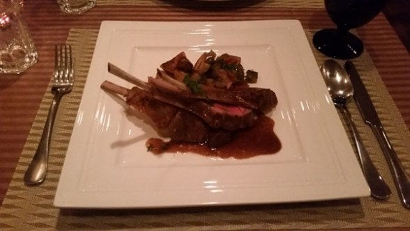 Le Panier Bleu, lamb chops, Seoul, French food