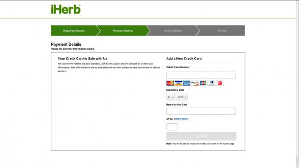 Credit Card-iHerb-Korea-PayPal-ordering