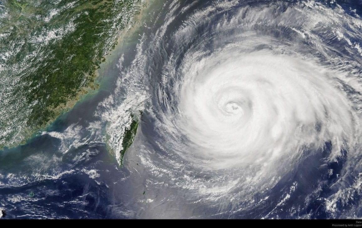 typhoon storm rain hurricane korea