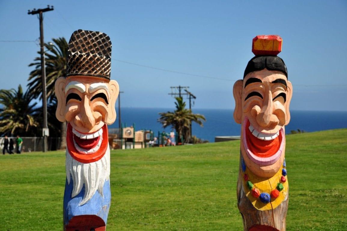 happy statues