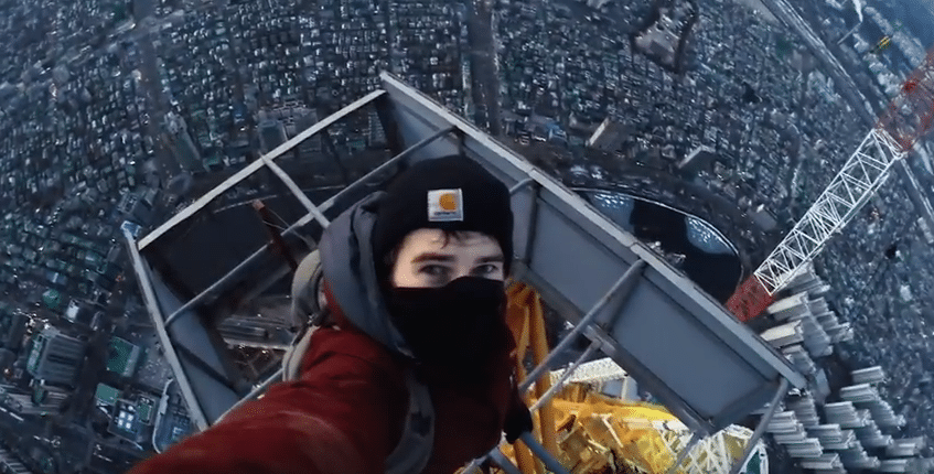 climbing lotte tower