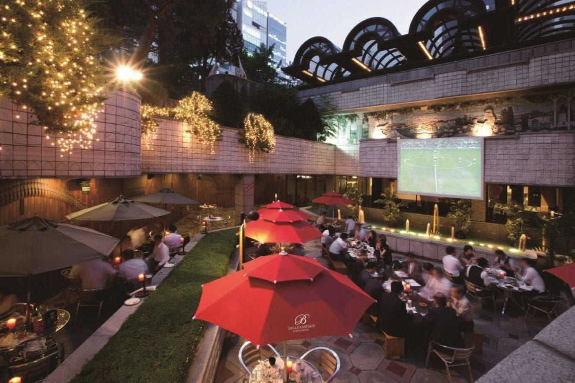 Outdoor Beer Garden at the Belle-Essence Seoul Hotel