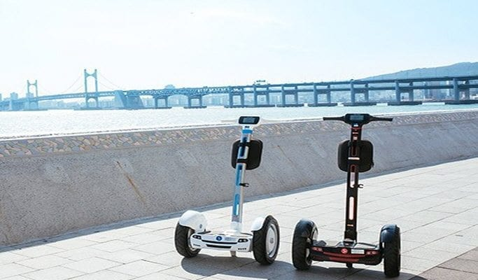 busan electronic scooter two wheeler