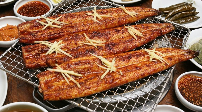 korean delicacies for the summer eel