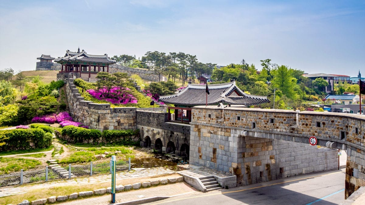 castle korea hwaseong fortress