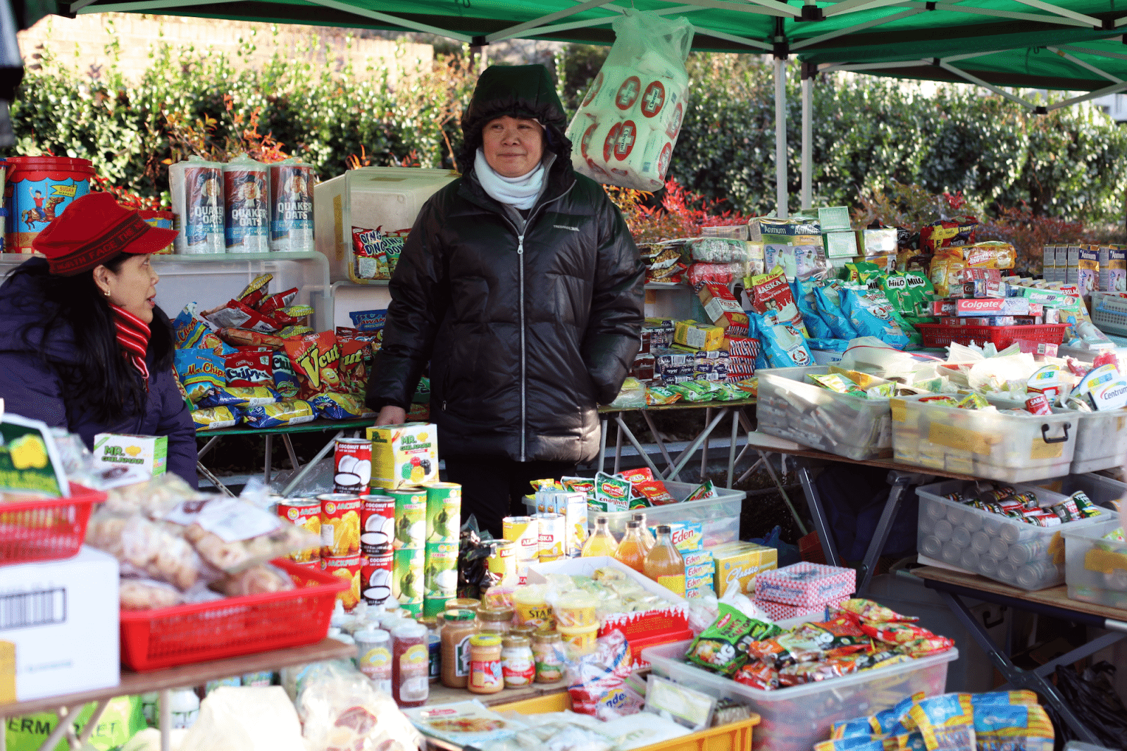 filipino market in seoul vendor stall