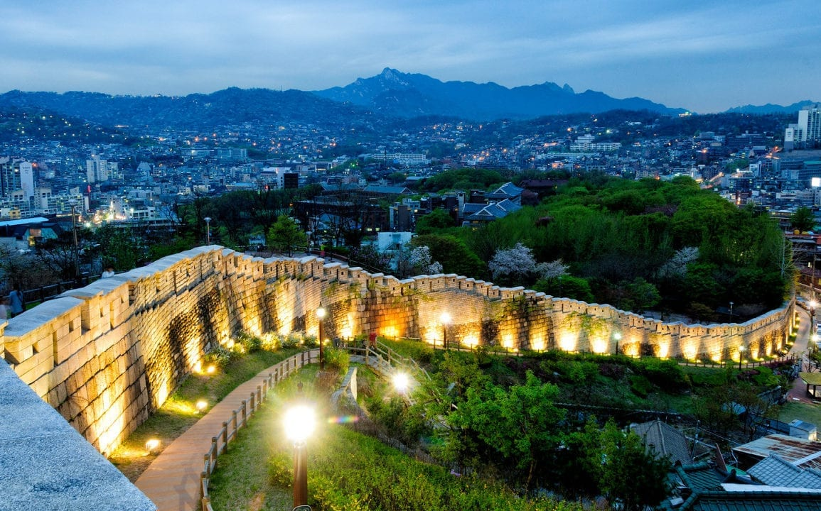 castle korea seoul city wall