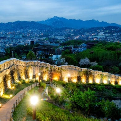 castle korea seoul city wall