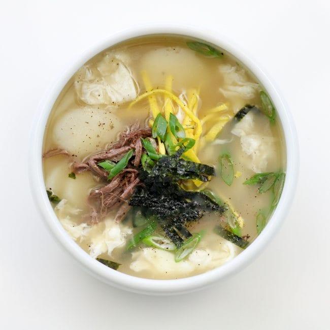 tteok-guk rice cake soup seollal