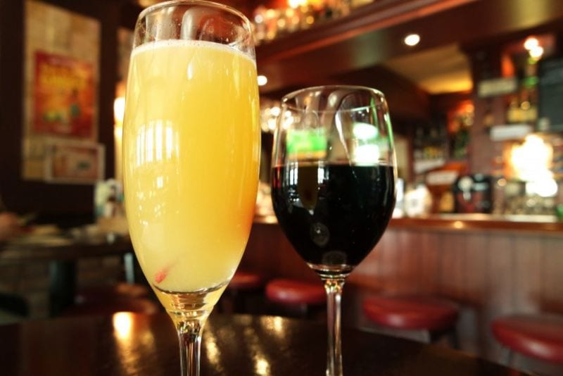 day drinking in itaewon wolfhound mimosa-and-wine