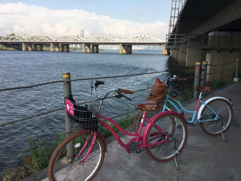 unforgettable day at han river Biking at Hangang