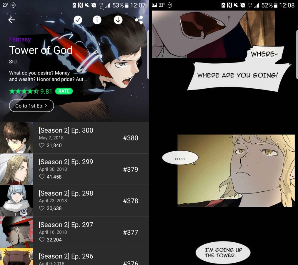 Tower of God Korean Webtoon
