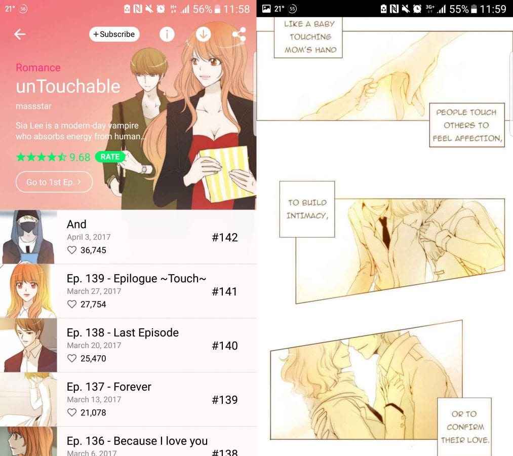UnTouchable Korean Webtoon