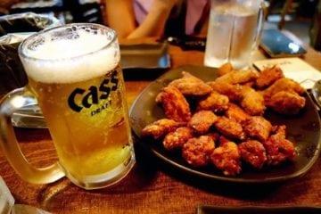 fried chicken beer chimaek