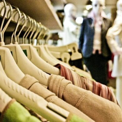 clothes rack shopping