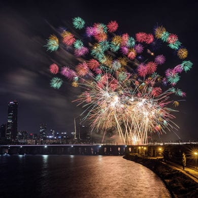 han river fireworks show event seoul event