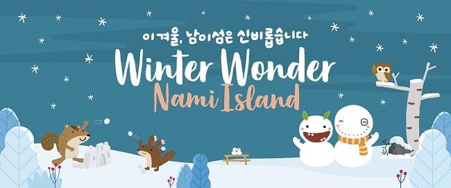 winter wonder nami island poster