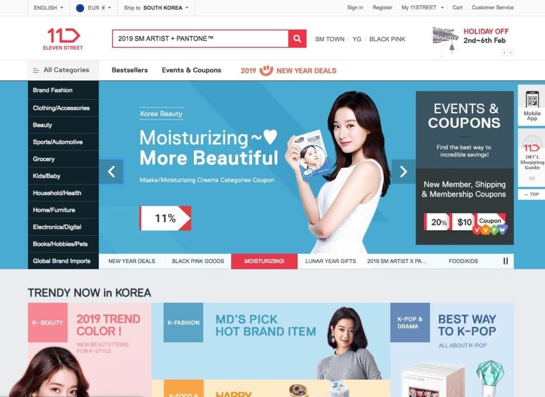 11th street online shopping korea