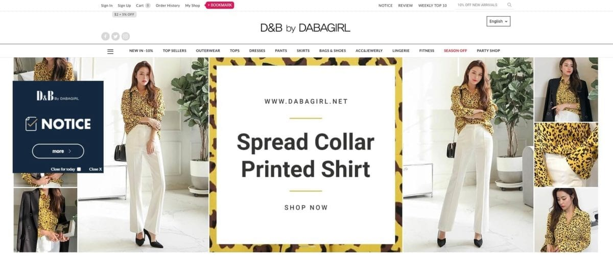 dabagirl online shopping clothes fashion