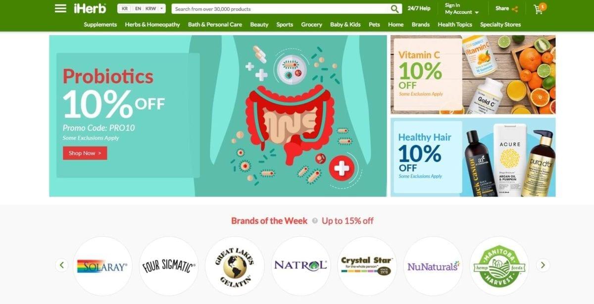 iHerb online shopping korea healthy