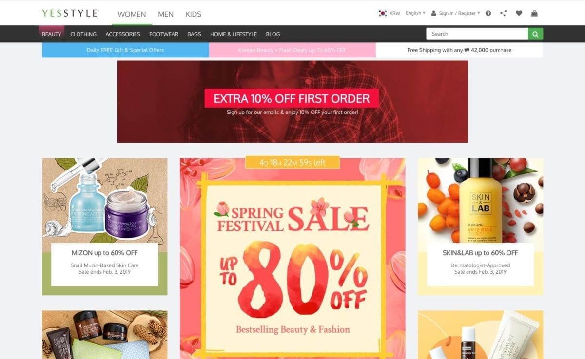 yesstyle online shopping korea