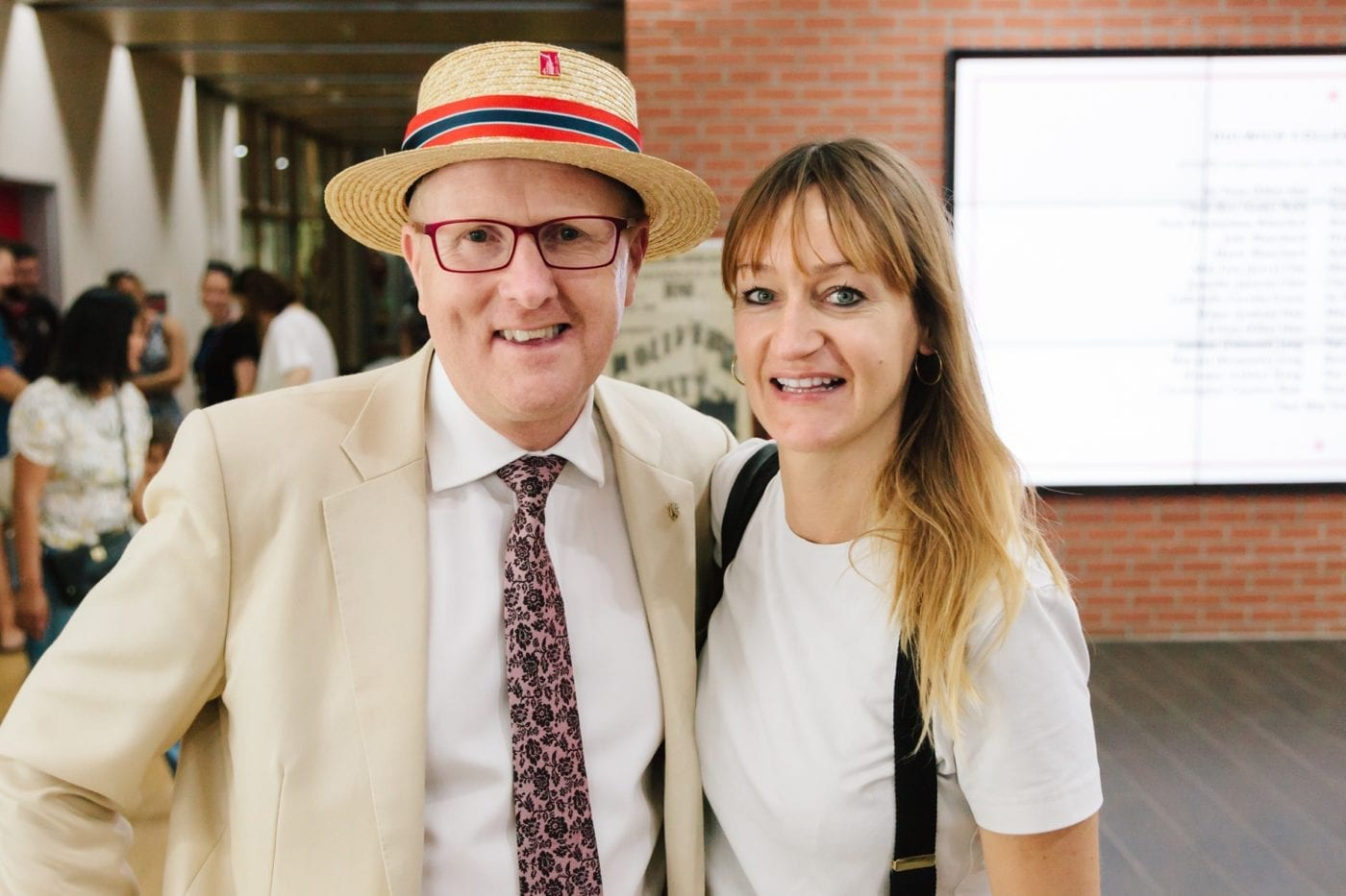 Dulwich College Graeme Salt with Bea Johnson founder of Zeo Home Waste movement
