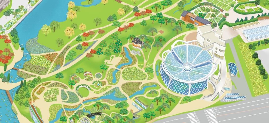 seoul botanical botanic garden park plans drawing