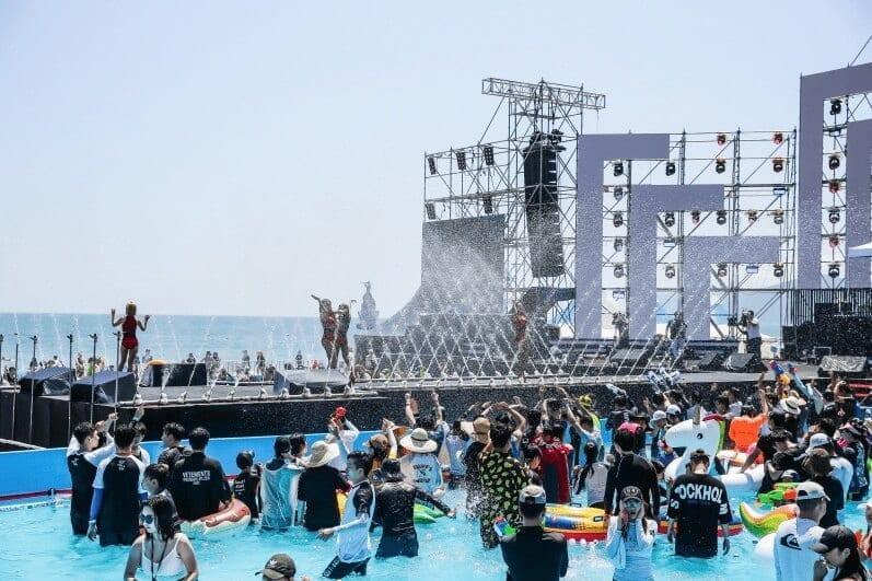 busan sea festival water korea