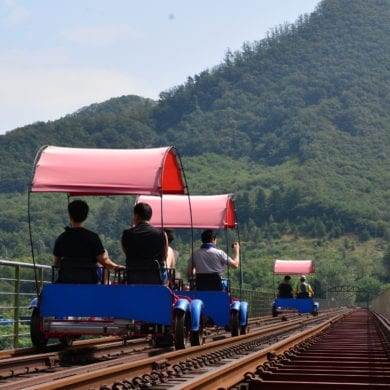 rail bike gapyeong