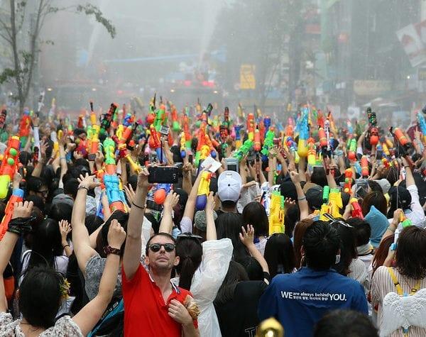 sinchon water gun festival