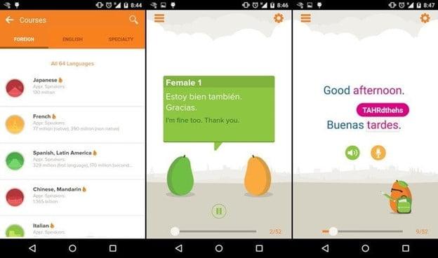 mango Korean learning app