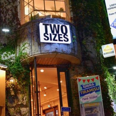 two sizes tiramisu seoul korea hongdae