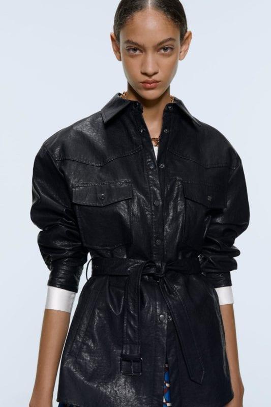 fall winter fashion korea korean 2019 trends leather shirt