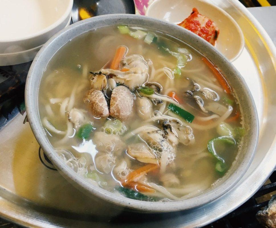 oyster kalguksu noodles korea boryeong