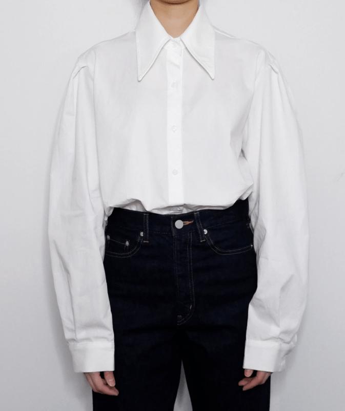 Korean fashion big collar