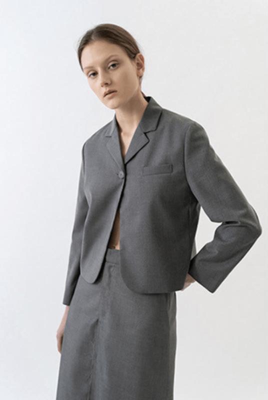 Korean fashion cropped blazer