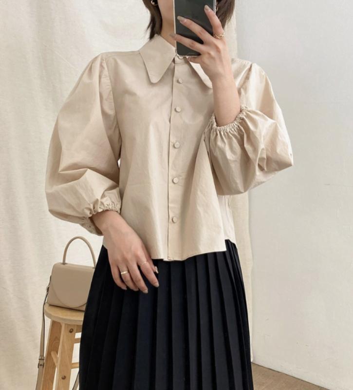Korean fashion puff sleeve