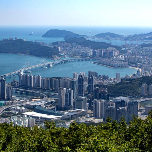 view from Jangsan in Busan, South Korea