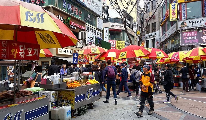 Nampo street scene in busan