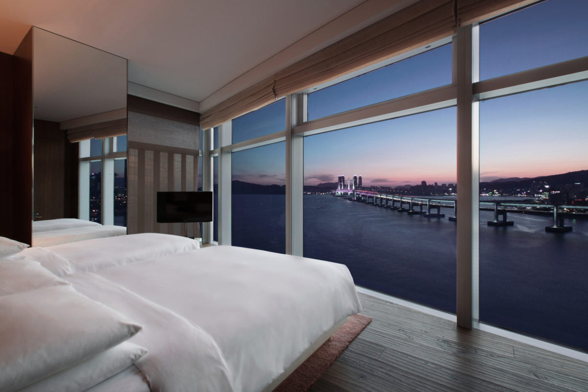 park hyatt hotel room in busan