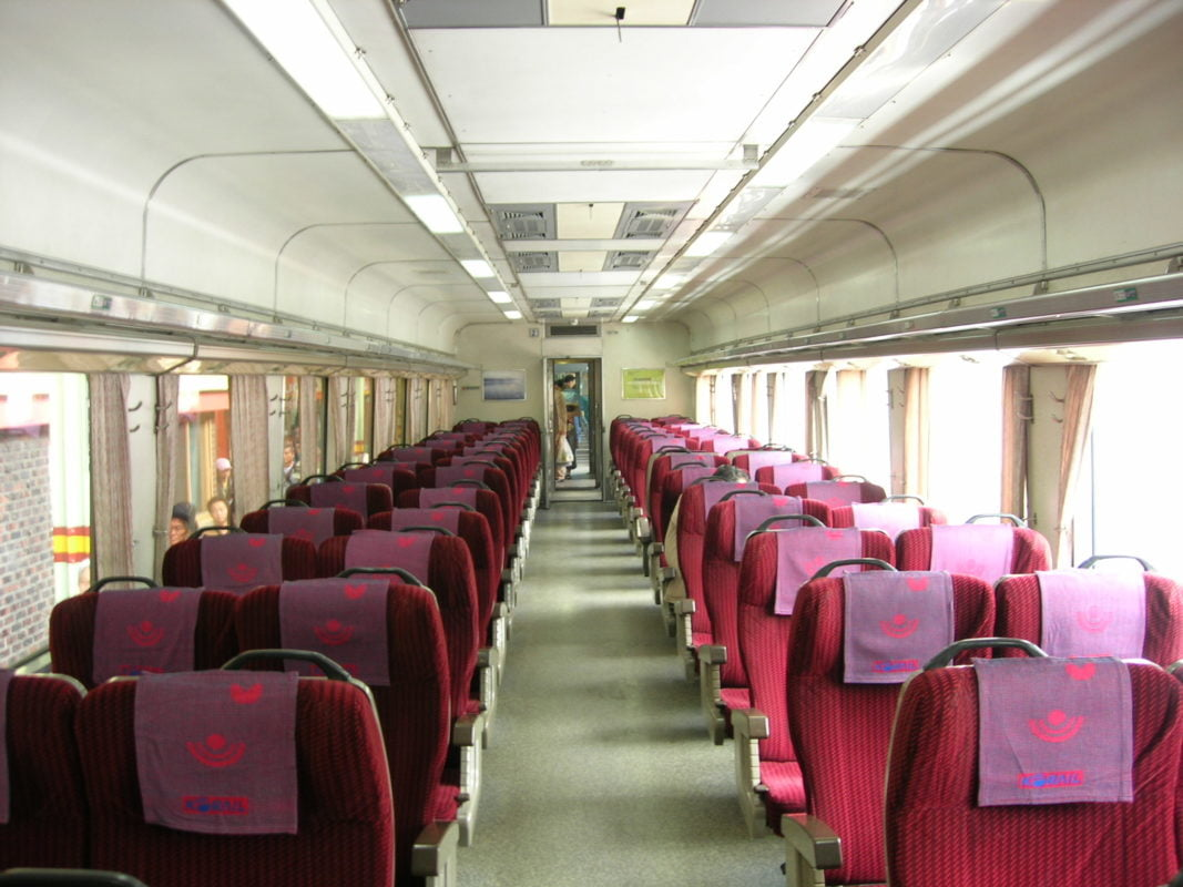 Korea Mugunghwa train interior