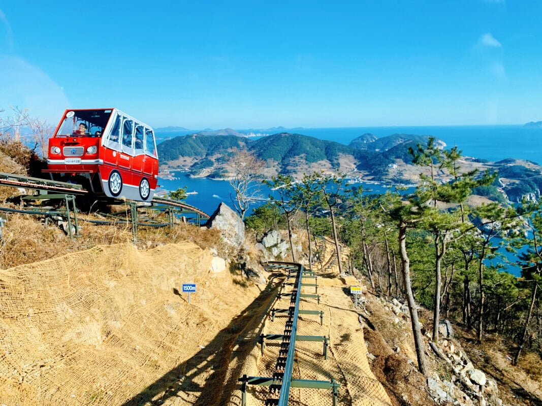 monorail in Tongyeong Korea